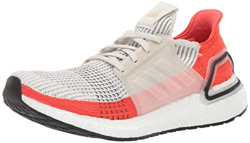 adidas Men's Ultraboost Running Shoe, raw White/Active Orange