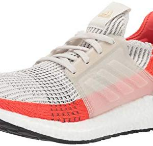 adidas Men's Ultraboost Running Shoe, raw White/Active Orange