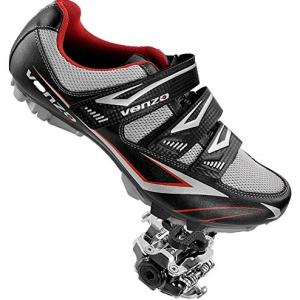 Venzo Mountain Bike Bicycle Cycling Compatible with Shimano SPD Shoes