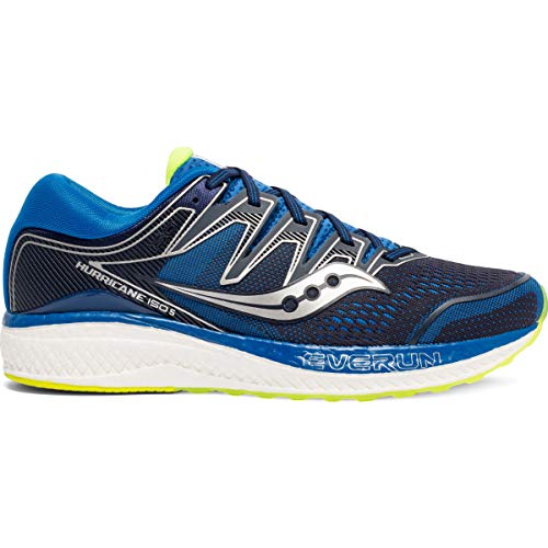 Saucony Men's Hurricane ISO 5, Navy/Citron