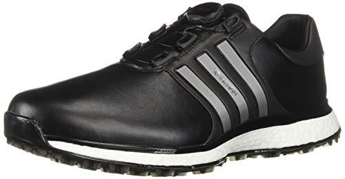 adidas Men's Spikeless BOA Golf Shoe, core Black/Iron Metallic/Silver Metallic