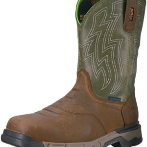 Ariat Work Men's REBAR Flex Western H2O Work Boot, Rye Brown