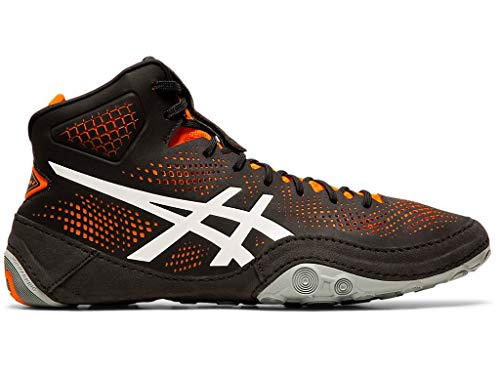 ASICS Men's Dan Gable EVO 2 Wrestling Shoes, Black/Shocking Orange
