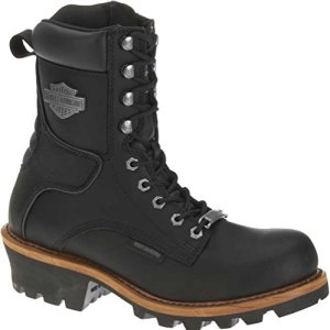 Harley-Davidson Men's Tyson Logger Boot,Black,10 M US