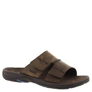 Vionic Jon Mens Slip-on Orthotic Sandal Brown
