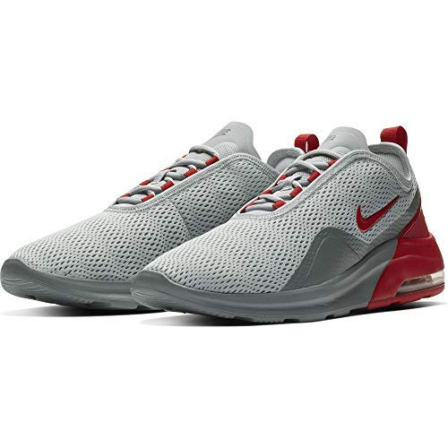 Nike Mens Air Max Motion 2 Running Shoe, Wolf Grey/University Red/Cool Grey