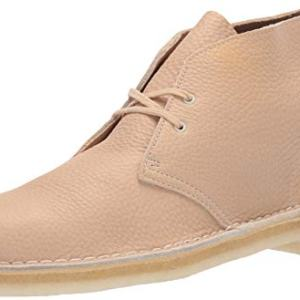 Clarks Men's Desert Chukka Boot, Off White Leather