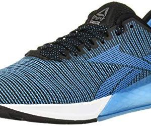 Reebok Men's Nano 9 Cross Trainer, Black/Cyan/White