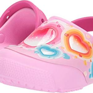 Crocs Kids' Fun Lab Heart Light-Up Clog, Carnation