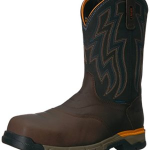 Ariat Work Men's Rebar Western H2O Composite Toe Work Boot, Chocolate Brown
