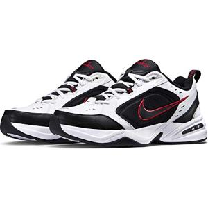 Nike Air Monarch IV Training Shoe (4E) - White/Black/Varsity Red