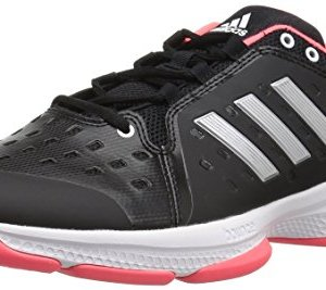 adidas Men's Barricade Classic Bounce Tennis Shoe, Black/Matte Silver/Flash Red
