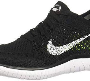 Nike Free RN Flyknit 2018 Black/White Men's Running Shoes