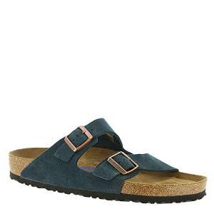 Birkenstock Arizona Soft Footbed Dark Navy Suede Sandals