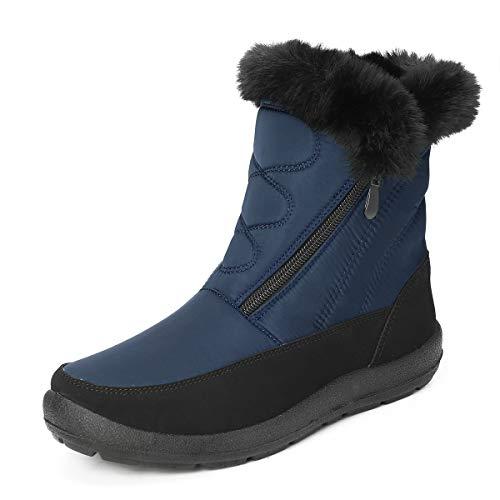 gracosy Snow Boots for Women Men, Warm Ankle Boots Waterproof Outdoor Slip