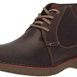 Clarks Men's Vargo Mid Ankle Boot, Dark Brown Leather