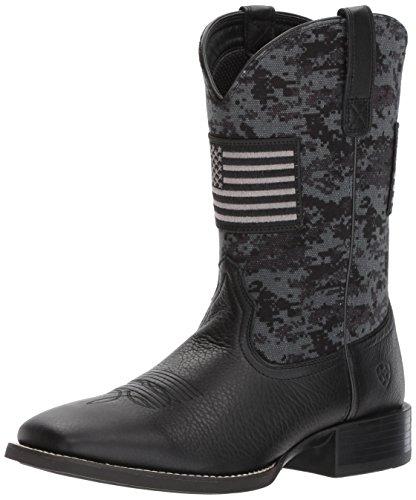 Ariat Men's Sport Patriot Western Boot, Deer tan/Black camo Print, 10.5 E US