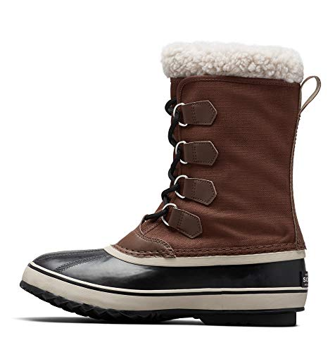 Sorel - Men's Pac Nylon Snow Boot for Winter, Tobacco, Black