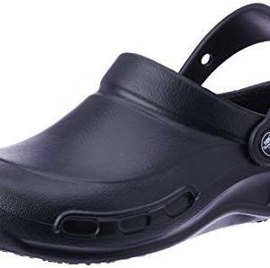 Crocs Bistro Clog, Black, 10 US Men / 12 US Women