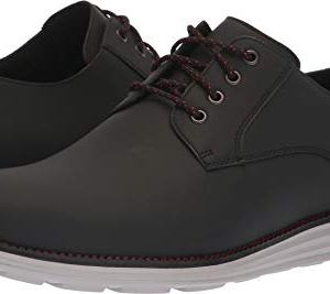 Cole Haan Men's Original Grand Plain Toe Sneaker, Black Matte Leather