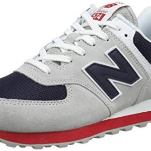 New Balance Men's , Rain Cloud/Team Red