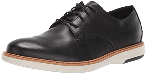Clarks Men's Draper Lace Oxford, Black Leather