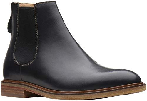 Clarks Men's Clarkdale Gobi Chelsea Boot, Black Leather