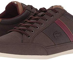 Lacoste Men's Chaymon Sneaker, Dark Brown/Brown