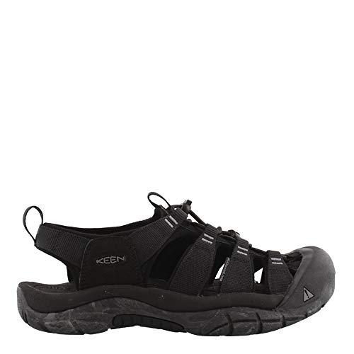 KEEN Men's Newport H2 Water Shoe, Black/Swirl Outsole