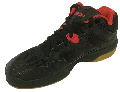Ektelon Men's NFS Attack Black/Red Synthethic Mid Racquetball Shoes