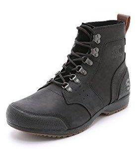 Sorel Men's Ankeny Mid Hiker Hiking Boot, Black, Tobacco