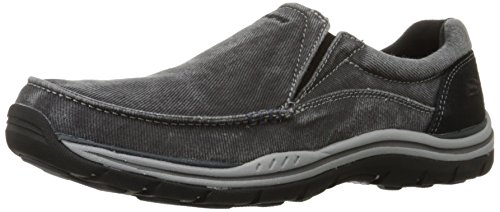Skechers Men's Expected Avillo Relaxed-Fit Slip-On Loafer,Black,8.5 EW US