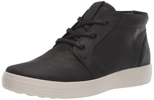 ECCO Men's Soft 7 Chukka Sneaker, Black Nubuck