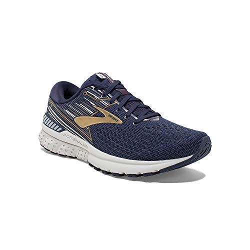 Brooks Mens Adrenaline GTS 19 Running Shoe - Navy/Gold/Grey