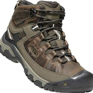 KEEN - Men's Targhee III Waterproof Mid Leather Hiking Boot, Canteen/Mulch