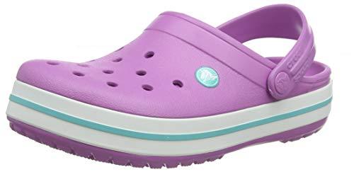 Crocs Crocband Clog | Comfortable Slip On Casual Water Shoe, Violet/White