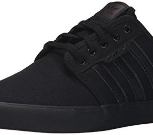 adidas Originals Men's Seeley Running Shoe, Black/Black/Black