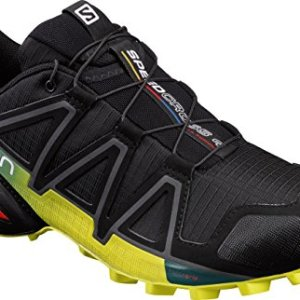 Salomon Men's Speedcross 4 Trail Runner, Black/Everglade/Sulphur