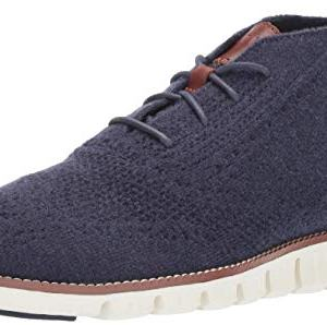Cole Haan Men's Zerogrand Stitchlite Chukka Boot, Marine Blue Wool