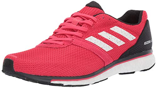 adidas Men's Adizero Adios 4, Active Pink/White/Carbon