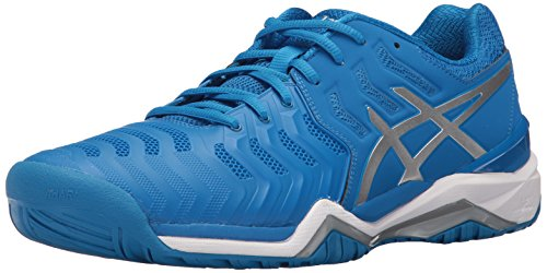 ASICS Men's Gel-Resolution 7 Tennis Shoe, Directoire Blue/Silver/White