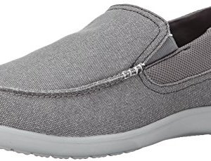 crocs Men's Santa Cruz 2 Luxe M Slip-On Loafer, Charcoal/Light Grey