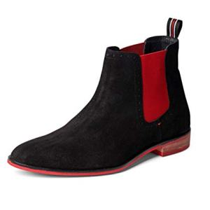 Carlos by Carlos Santana Mantra Chelsea Boot Black Calfskin Suede