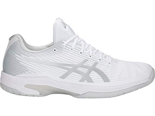ASICS Men's Solution Speed FF Tennis Shoes, 15M, White/Silver
