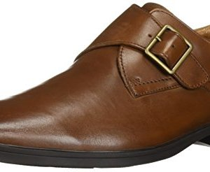 Clarks Men's Tilden Style Shoe, dark tan leather