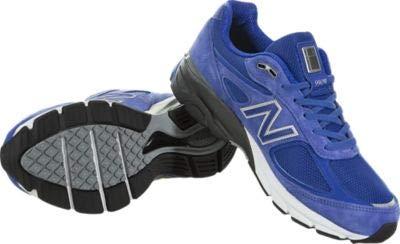 New Balance Men's Running Shoe, UV Blue/Silver New Balance Men's 990v4 Running Shoe, UV Blue/Silver, 13 D US.