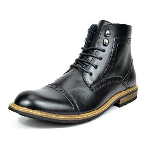 Bruno Marc Men's Dress Ankle Motorcycle Boots Leather Lined Derby Oxfords