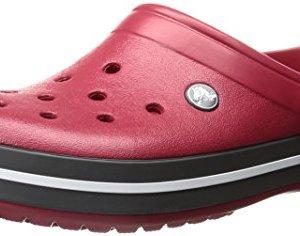Crocs unisex-adult Crocband Clog | Comfortable Slip On Casual Water Shoe Pepper 5 US Men / 7 US Women