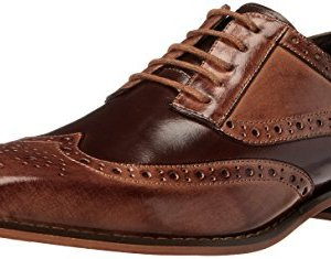 STACY ADAMS Men's Tinsley-Wingtip Oxford, Tan/Brown