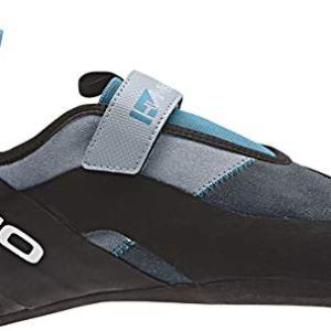 Five Ten Hiangle Mens Climbing Shoes, (Light Grey, Bold Onix, Vivid Teal), Size 7